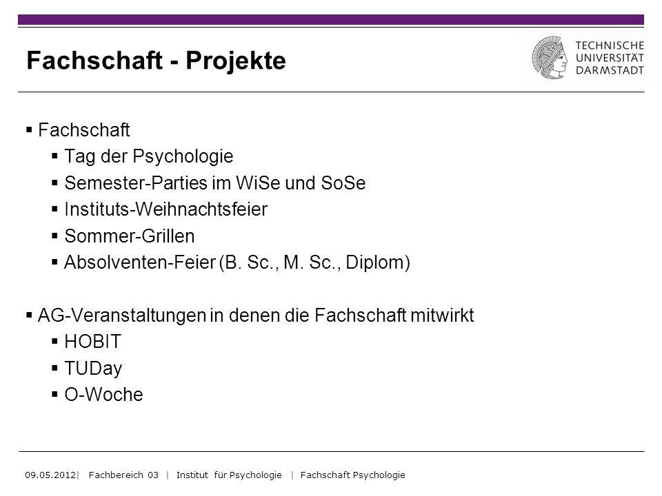 Fachschaft - Projekte Fachschaft Tag der Psychologie Semester-Parties im WiSe und SoSe Instituts-Weihnachtsfeier Sommer-Grillen Absolventen-Feier (B.
