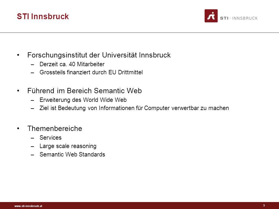 www.sti-innsbruck.at STI Innsbruck Themenbereiche NEU –Web 3.0 –Linked Data –Effiziene und effektive Onlinekommunikation –Engagement 3.0 –Social Media im Tourismus 4
