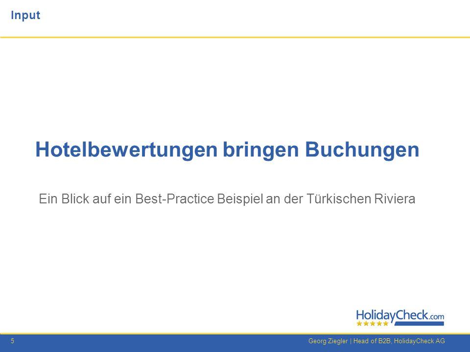 16Georg Ziegler   Head of B2B, HolidayCheck AG Die aktuelle Buchungslage in Griechenland 2012 (zu Vorjahr) GriechenlandKreta Griechenland stagniert, nutzen Sie jetzt die Chancen.