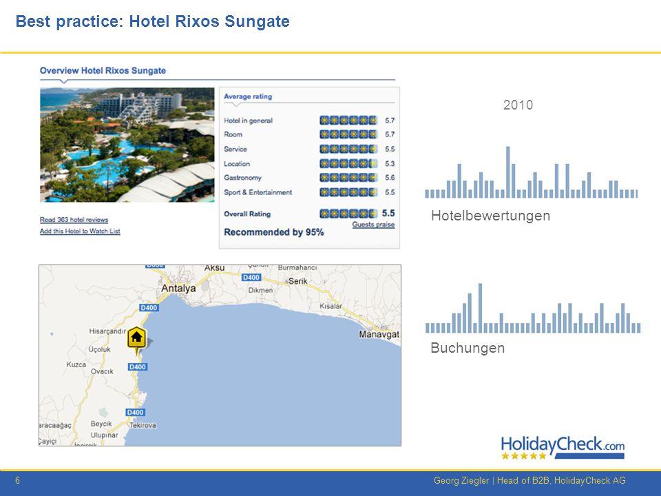 7Georg Ziegler   Head of B2B, HolidayCheck AG Best Practice: Rixos Sungate – Was wurde getan.