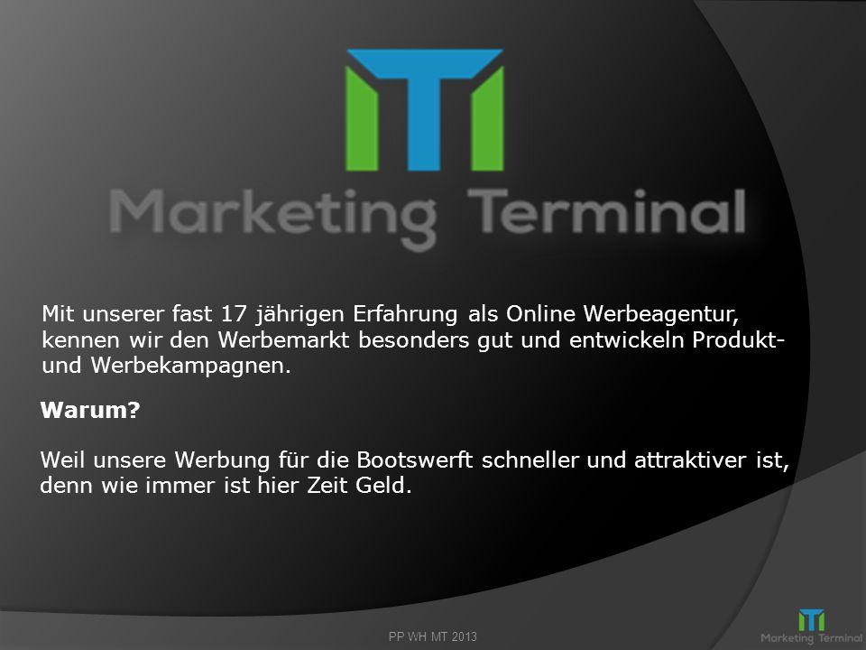 Herzlich willkommen bei… Auf den folgenden 10 Seiten erhalten Sie einen Überblick Wie Sie mit Marketing Terminal GmbH durch Werbung im Online- Marketi