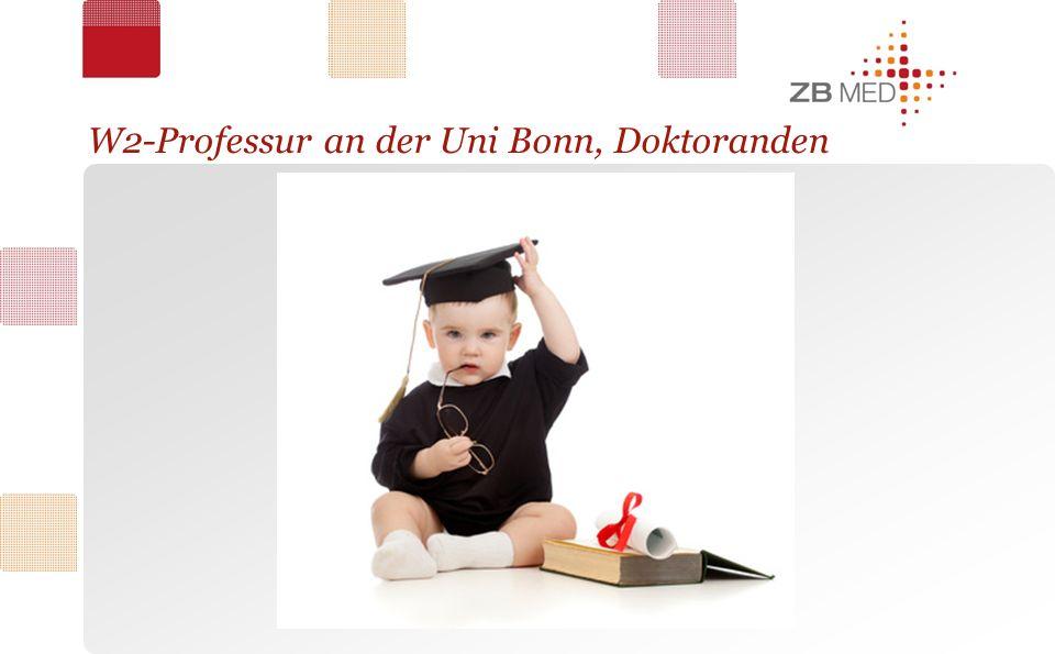 W2-Professur an der Uni Bonn, Doktoranden