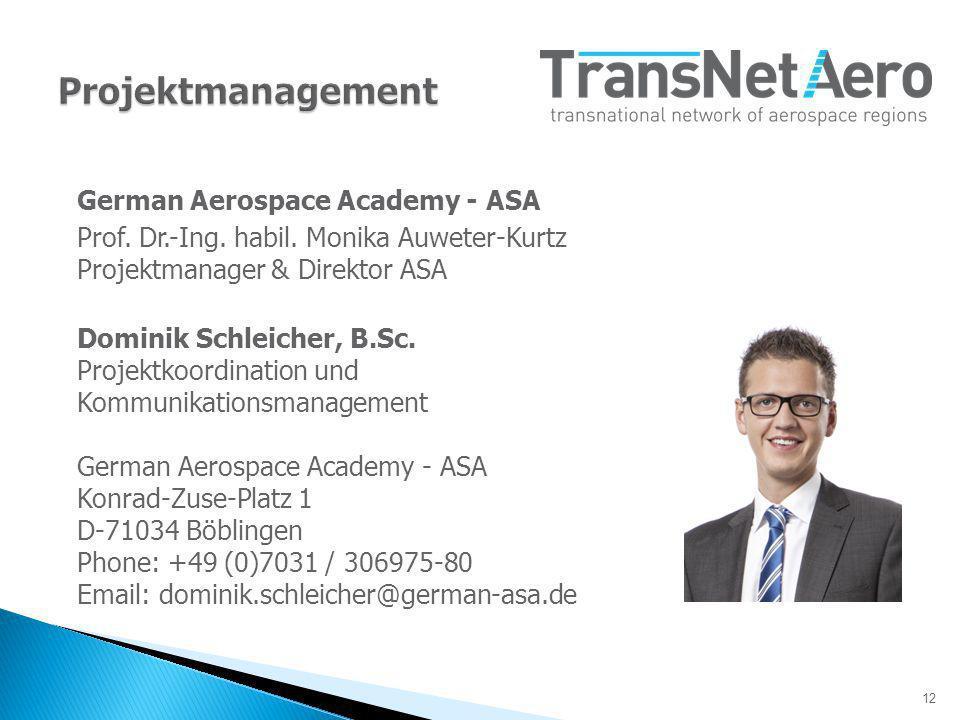 12 German Aerospace Academy - ASA Prof.Dr.-Ing. habil.