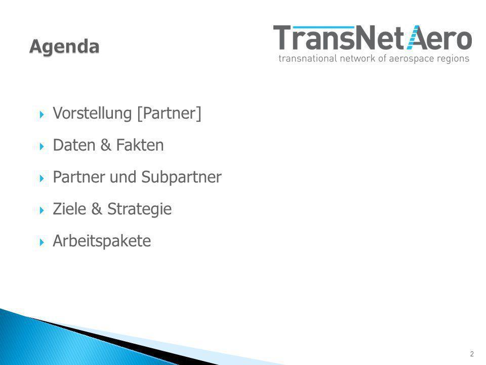 2 Vorstellung [Partner] Daten & Fakten Partner und Subpartner Ziele & Strategie Arbeitspakete