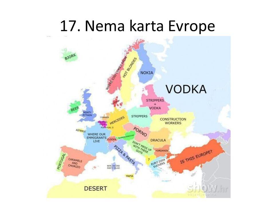 17. Nema karta Evrope