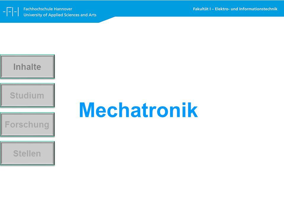 Mechatronik Forschung Stellen Studium Inhalte