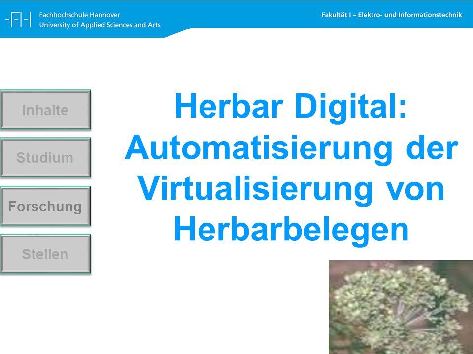 Forschung Stellen Studium Inhalte Herbar Digital: Automatisierung der Virtualisierung von Herbarbelegen