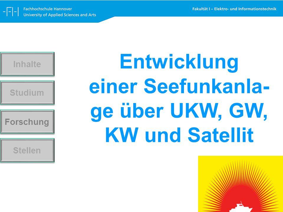 Forschung Stellen Studium Inhalte Entwicklung einer Seefunkanla- ge über UKW, GW, KW und Satellit