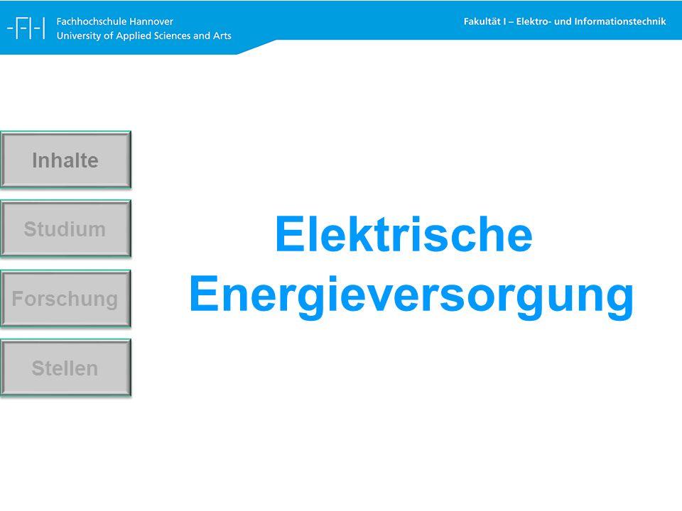 Elektrische Energieversorgung Forschung Stellen Studium Inhalte