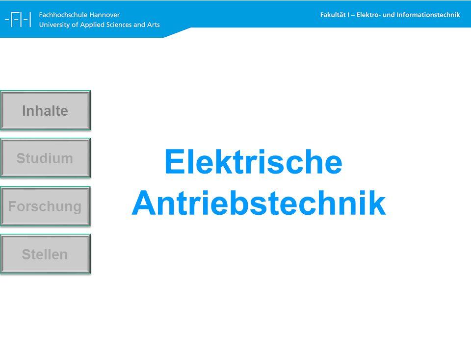 Elektrische Antriebstechnik Forschung Stellen Studium Inhalte