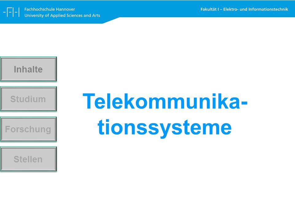 Telekommunika- tionssysteme Forschung Stellen Studium Inhalte
