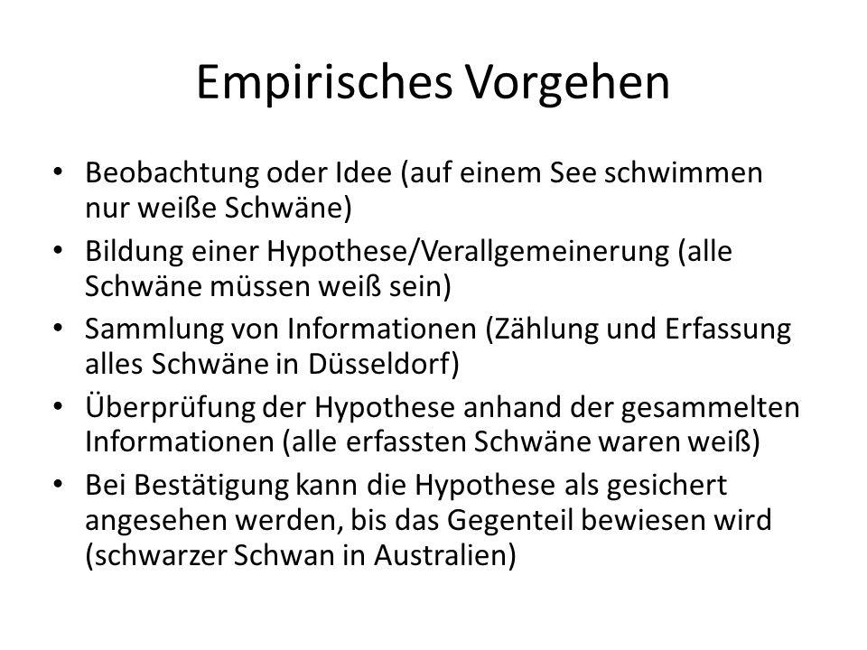 Quantitative Sozialforschung - Vorgehen 1.