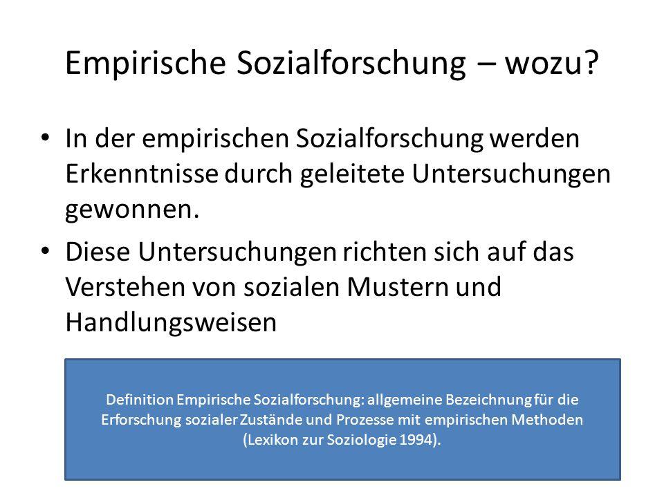 Empirische Sozialforschung: Zwei Verwertungsinteressen Die Erforschung sozialer Phänomene wird durch eine Vielzahl von Fragestellungen in Gang gesetzt.