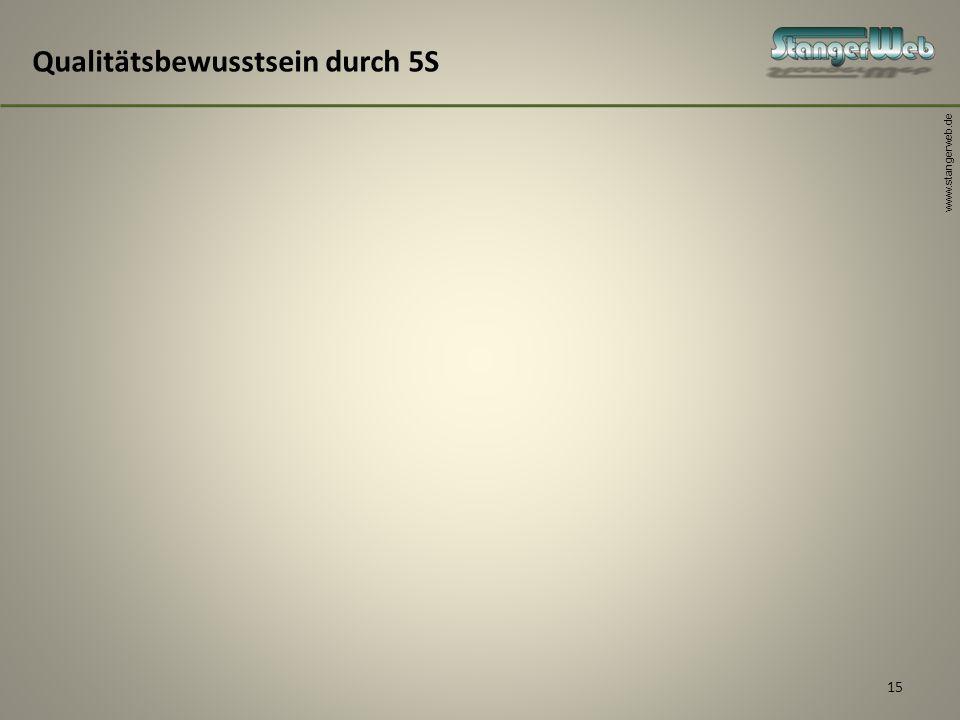 www.stangerweb.de 15 Qualitätsbewusstsein durch 5S