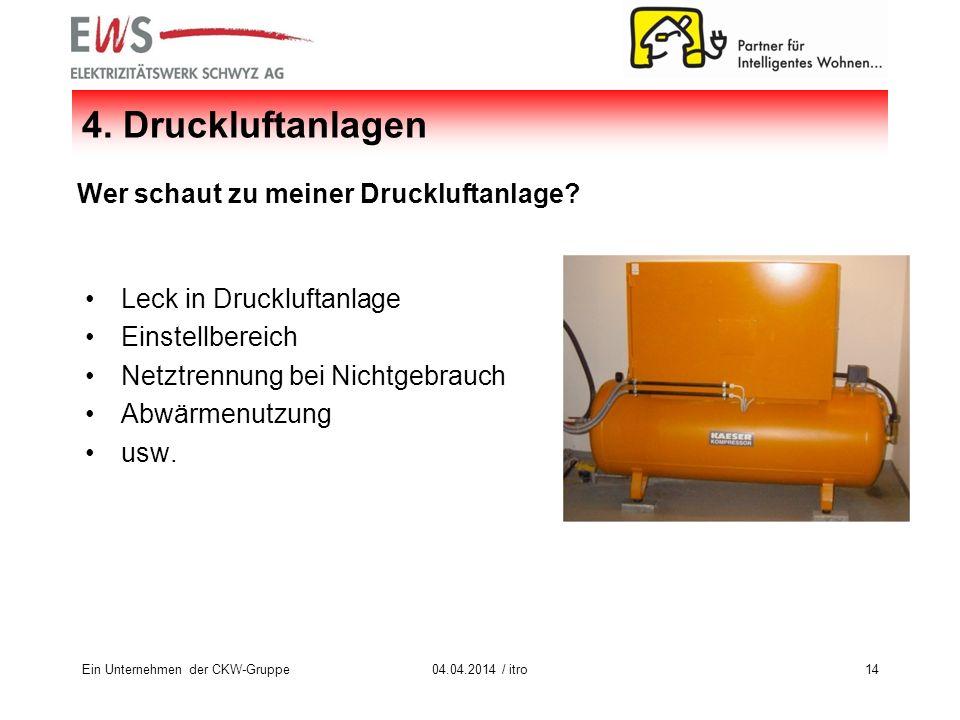 Ein Unternehmen der CKW-Gruppe1404.04.2014 / itro 4.