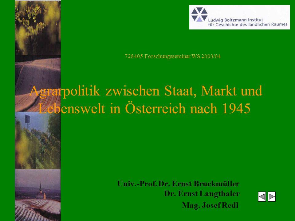 Univ.-Prof. Dr. Ernst Bruckmüller Dr. Ernst Langthaler Mag.