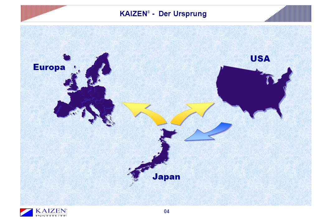 04 Europa USA Japan KAIZEN ® - Der Ursprung