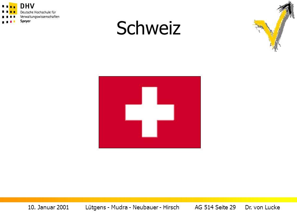 10. Januar 2001 Lütgens - Mudra - Neubauer - Hirsch AG 514 Seite 29 Dr. von Lucke Schweiz