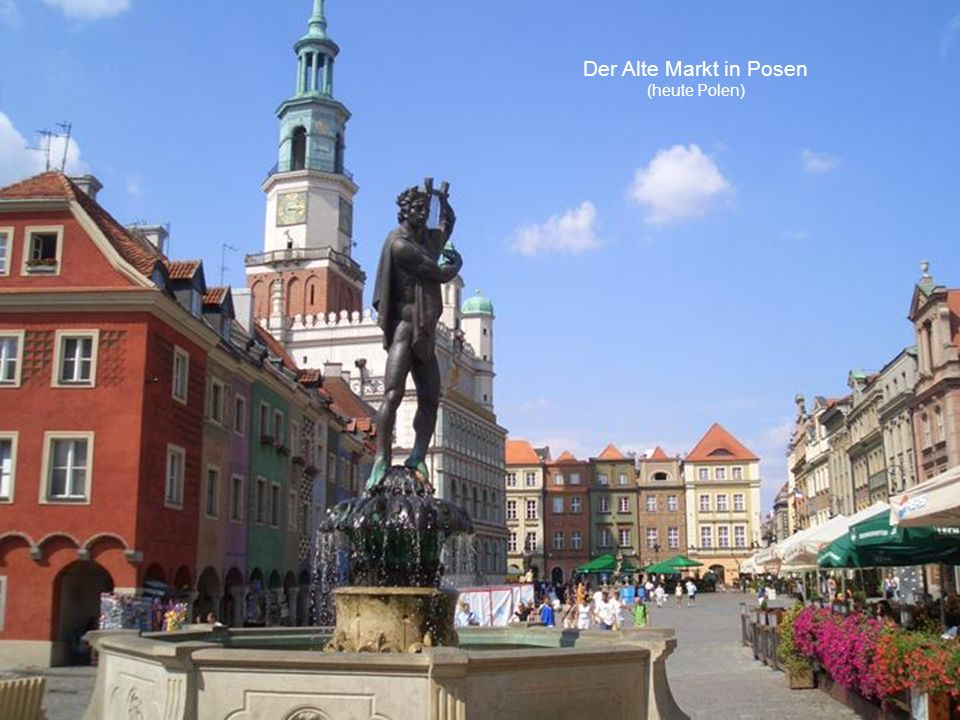 Blick auf die Brahe in Bromberg (Posener Land, heute Polen)