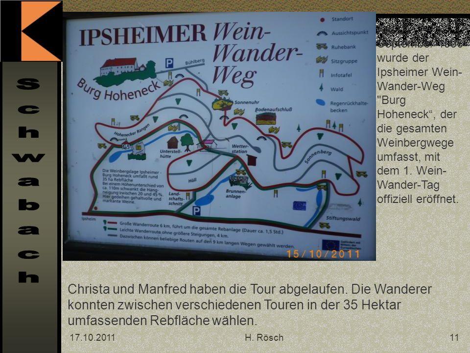 17.10.2011H. Rösch11 Am 01.