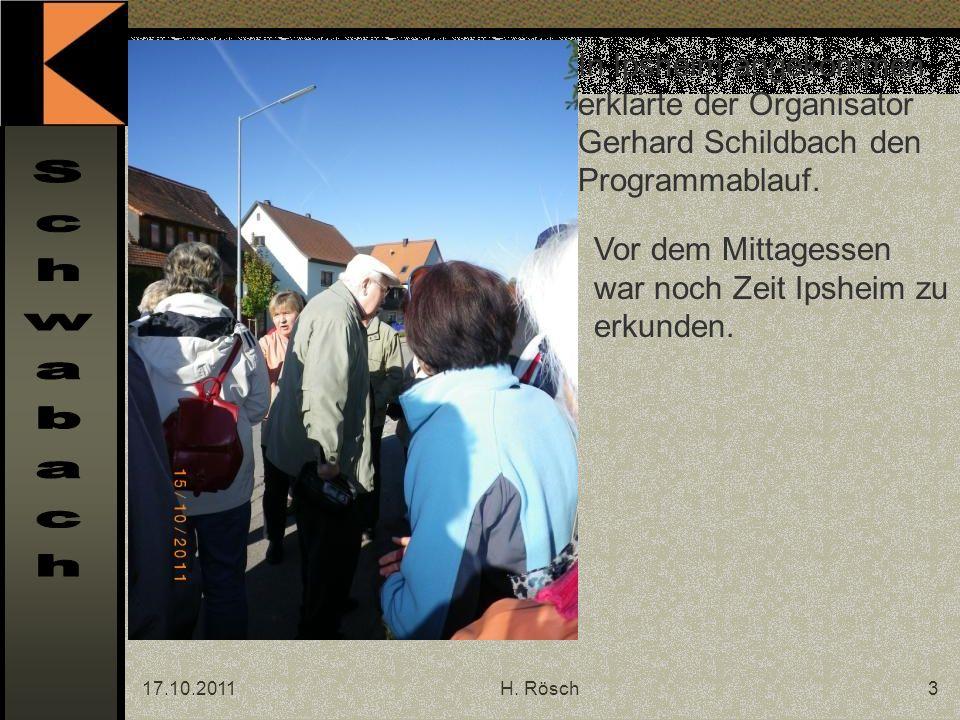 17.10.2011H. Rösch14 Letzte Rast vor der Wirtschaft! Ins Land der Franken fahren...