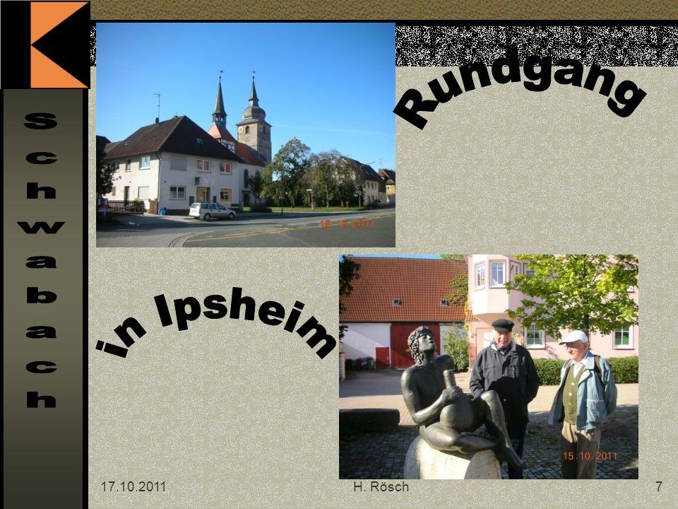 17.10.2011H.Rösch8 Hier hat Gerhard Schildbach die Plätze zum Mittagessen reserviert.