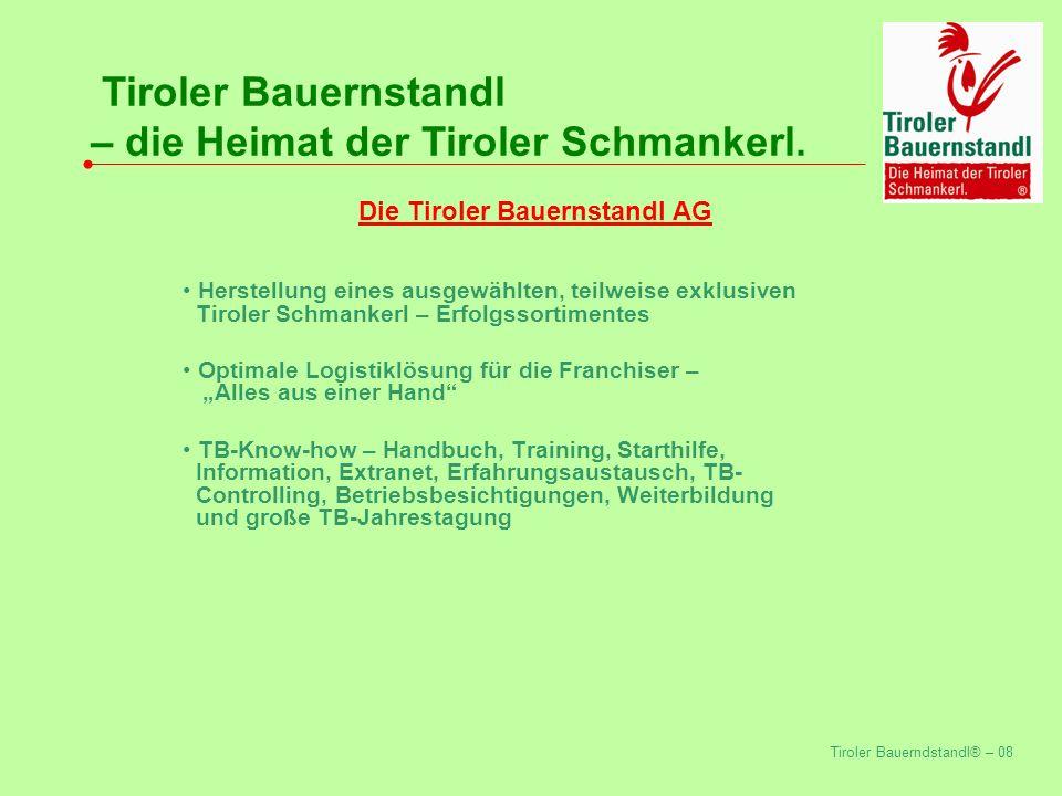 Tiroler Bauerndstandl® – 08 Tiroler Bauernstandl – die Heimat der Tiroler Schmankerl.