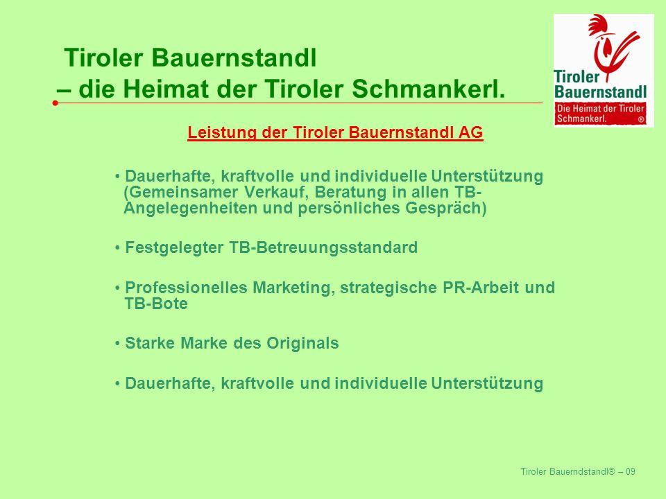 Tiroler Bauerndstandl® – 09 Tiroler Bauernstandl – die Heimat der Tiroler Schmankerl.