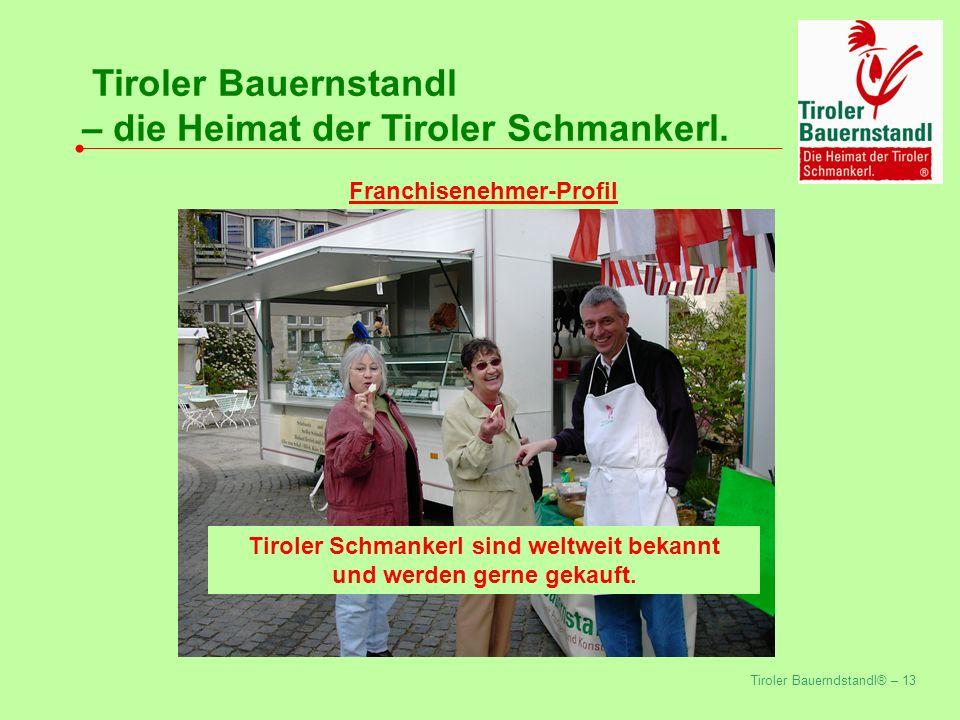 Tiroler Bauerndstandl® – 13 Tiroler Bauernstandl – die Heimat der Tiroler Schmankerl.