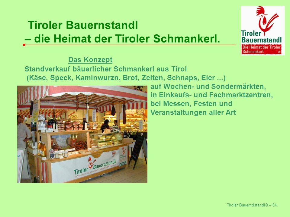 Tiroler Bauerndstandl® – 04 Tiroler Bauernstandl – die Heimat der Tiroler Schmankerl.