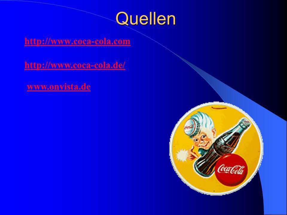 Quellen http://www.coca-cola.com http://www.coca-cola.de/ www.onvista.de
