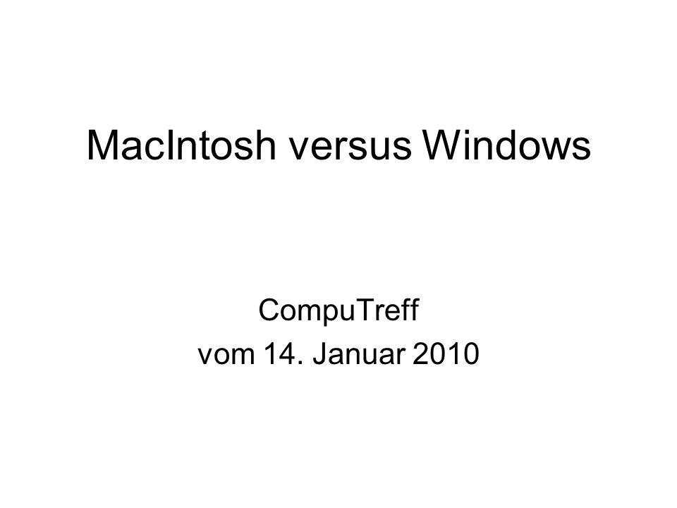 Mac: Inhaltsverzeichnis des Computers