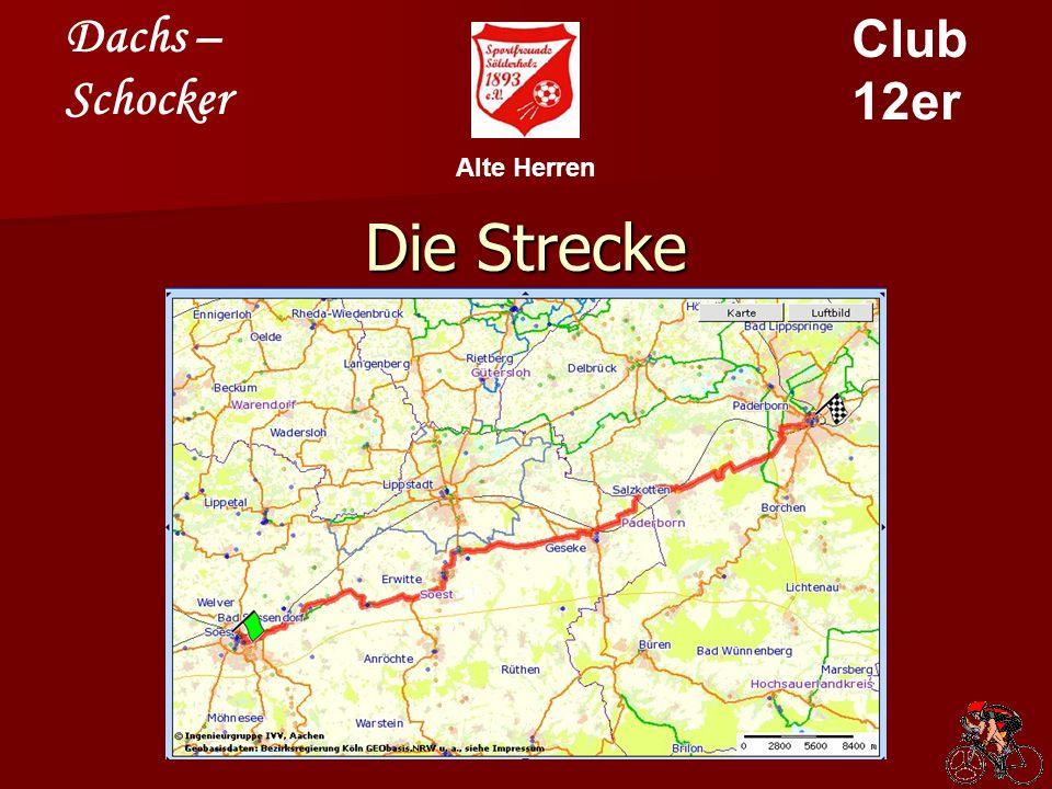 Dachs – Schocker Club 12er Alte Herren Das Streckenprofil Für alle diejenigen, die jetzt Angst bekommen haben, hier das Profil noch einmal in normaler Größendarstellung!!!