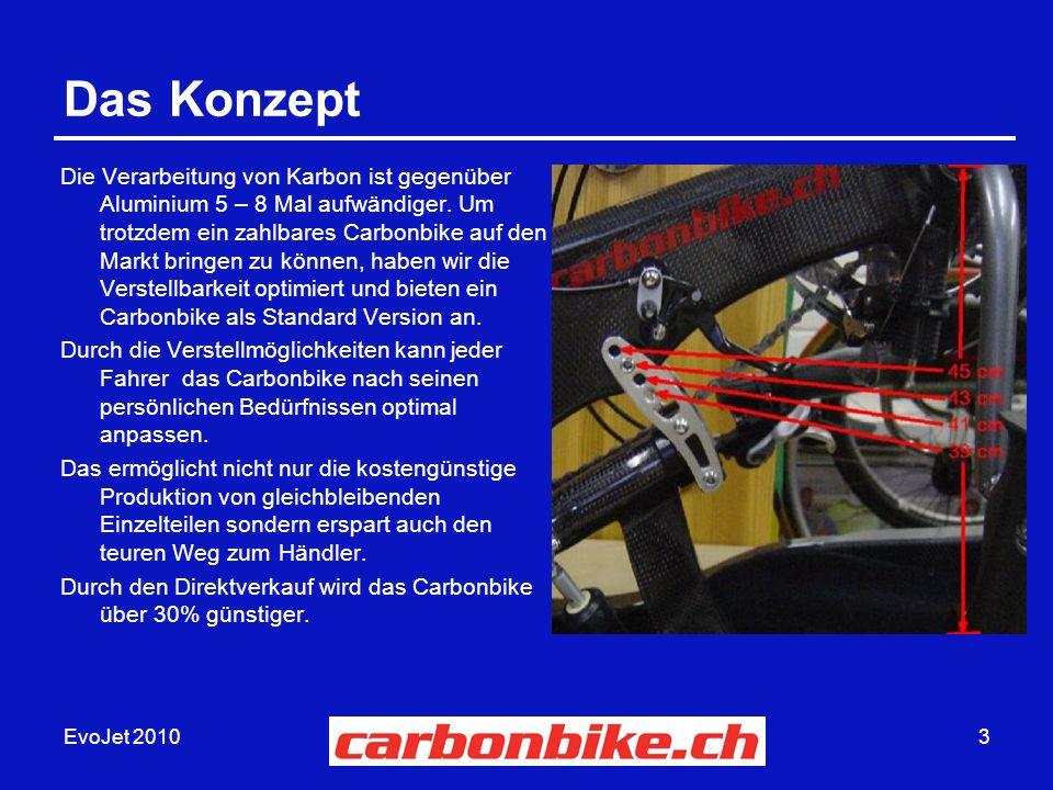 EvoJet 20103 Das Konzept Die Verarbeitung von Karbon ist gegenüber Aluminium 5 – 8 Mal aufwändiger.
