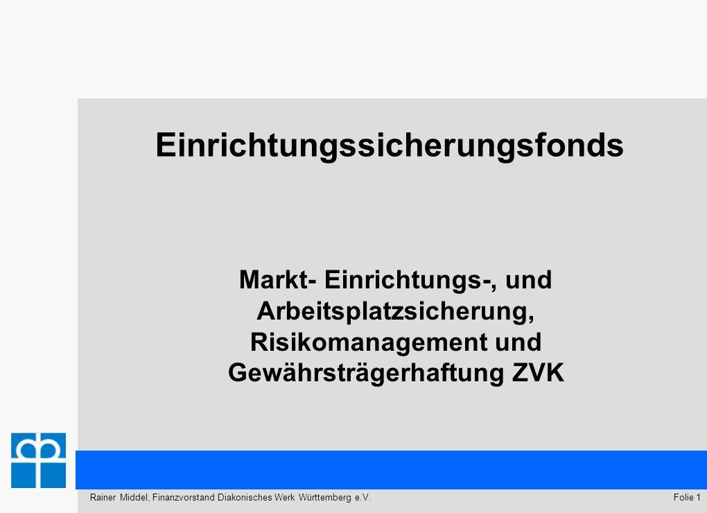 14. Württembergische Evangelischen Landessynode - Schwäbisch Gmünd 10.03.2012 Folie 1Rainer Middel, Finanzvorstand Diakonisches Werk Württemberg e.V.