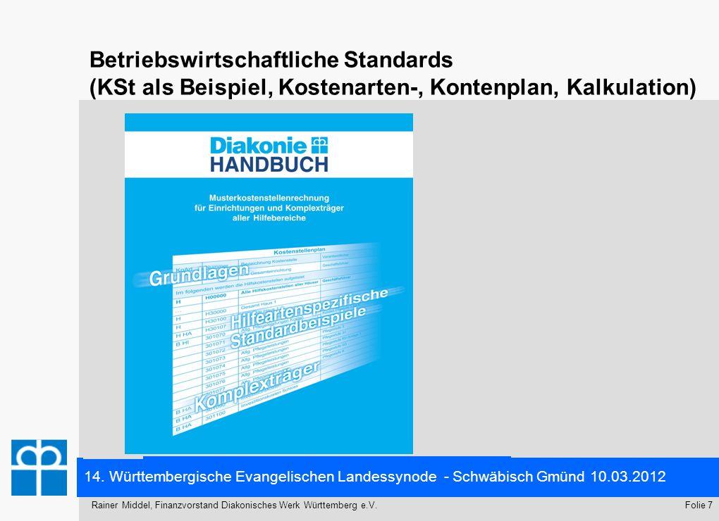 14. Württembergische Evangelischen Landessynode - Schwäbisch Gmünd 10.03.2012 Folie 7Rainer Middel, Finanzvorstand Diakonisches Werk Württemberg e.V.