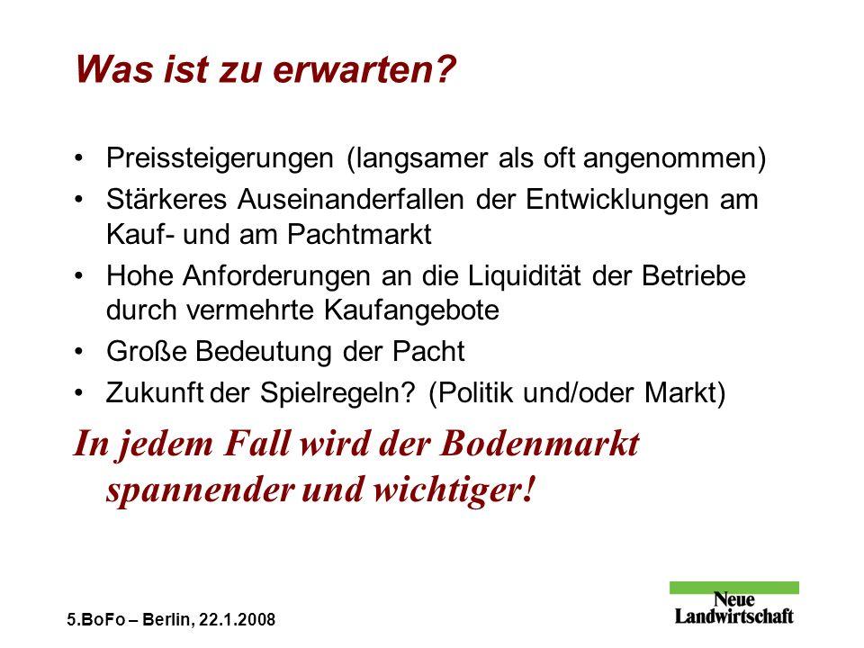 5.BoFo – Berlin, 22.1.2008 Was ist zu erwarten.