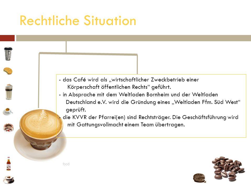 Rechtliche Situation - das Café wird als wirtschaftlicher Zweckbetrieb einer das Café wird als wirtschaftlicher Zweckbetrieb einer Körperschaft öffent