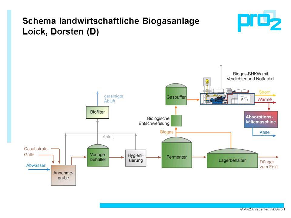 Schema landwirtschaftliche Biogasanlage Loick, Dorsten (D) © Pro2 Anlagentechnik GmbH