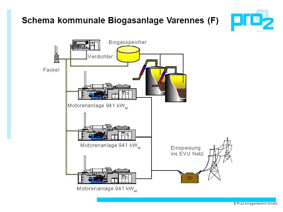 Schema kommunale Biogasanlage Varennes (F) © Pro2 Anlagentechnik GmbH