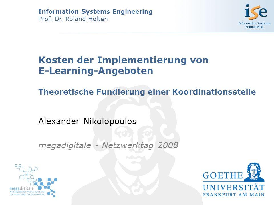 12 (c) 2008, University of Frankfurt, Information Systems Engineering, Alexander Nikolopoulos Theoriebasierte Analyse der Kostenblöcke Sprachkritik
