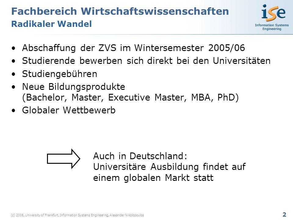 13 (c) 2008, University of Frankfurt, Information Systems Engineering, Alexander Nikolopoulos cfSet-Up Kosten p1break-even point Theoriebasierte Analyse der Kostenblöcke Sprachkritik
