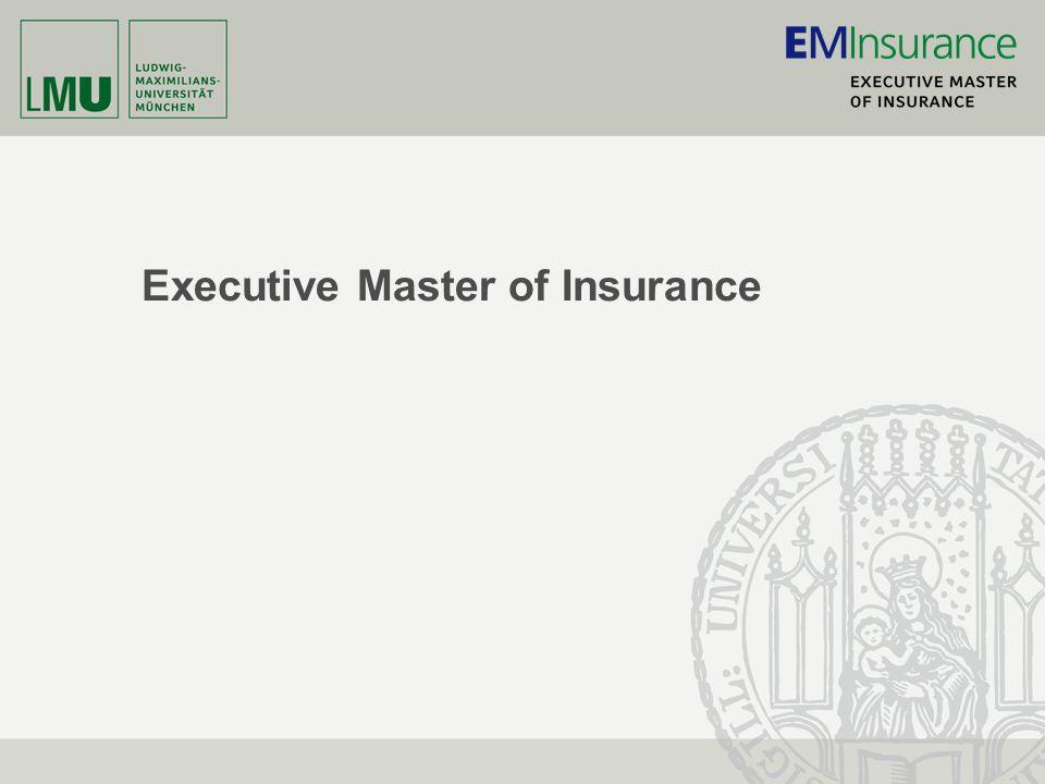 Munich School of Management www.EMInsurance.de 2 Charakteristika des neuen Studiengangs -Betonung der analytisch-fachlichen Komponente.