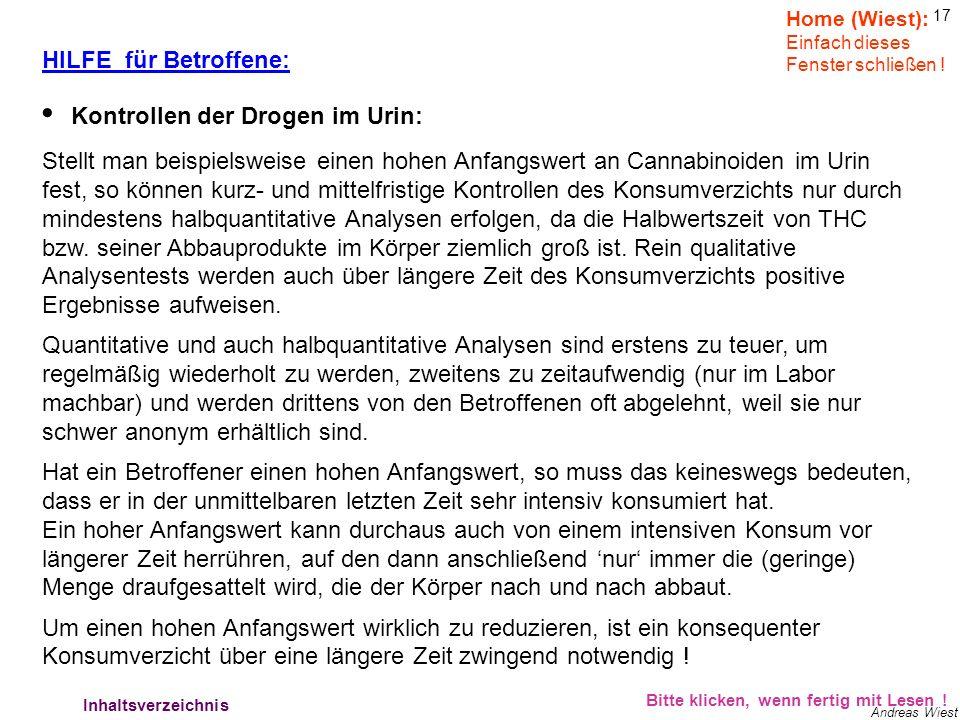 16 Andreas Wiest HILFE für Betroffene: Bitte klicken, wenn fertig mit Lesen ! Hilfe für Betroffene 3 Home (Wiest): Einfach dieses Fenster schließen !
