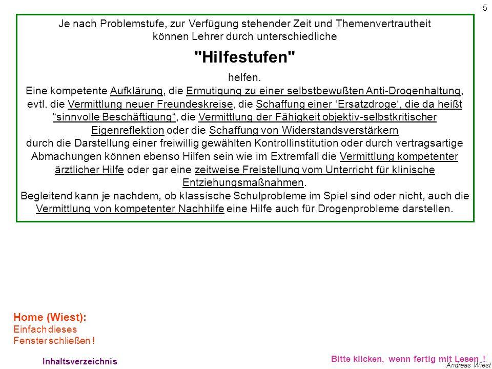 5 Andreas Wiest Hilfestufen 1 Bitte klicken, wenn fertig mit Lesen .