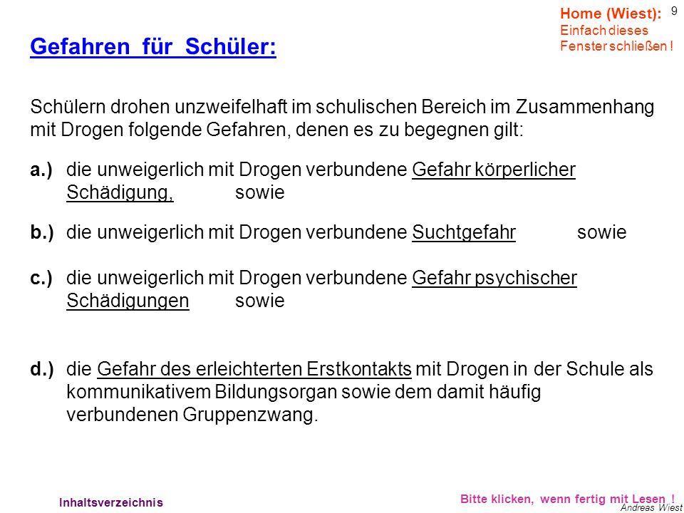 19 Andreas Wiest Verhalten der Lehrer: Bitte klicken, wenn fertig mit Lesen .