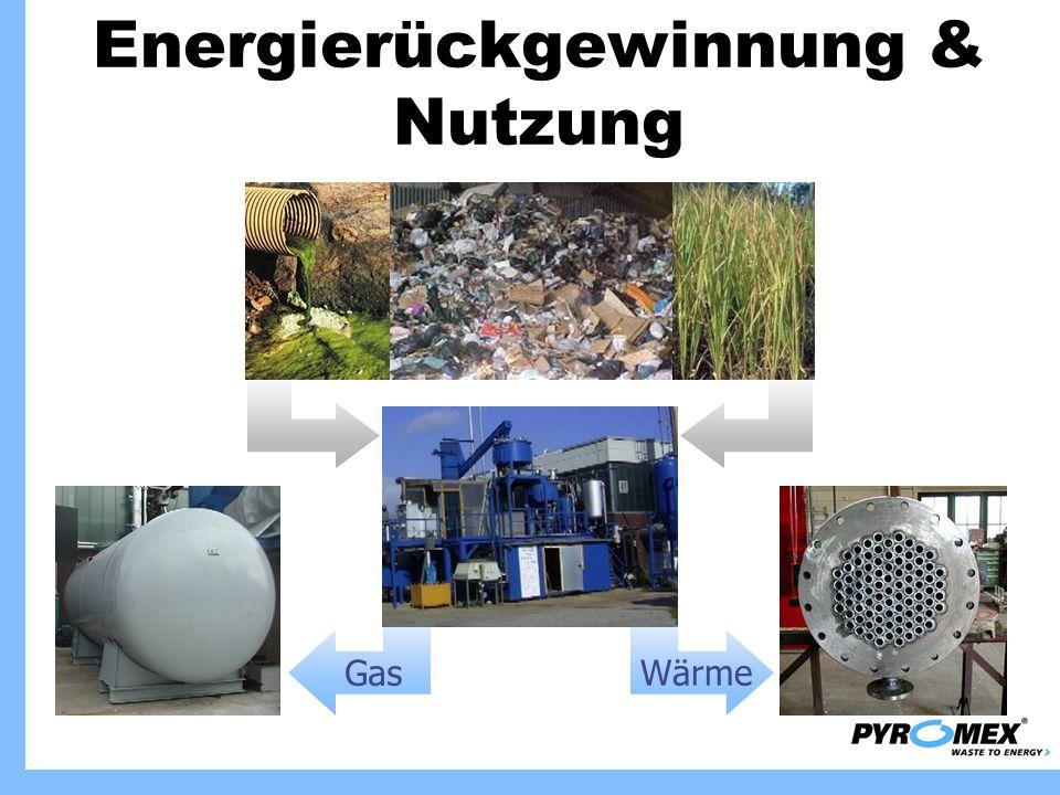 GasWärme Energierückgewinnung & Nutzung