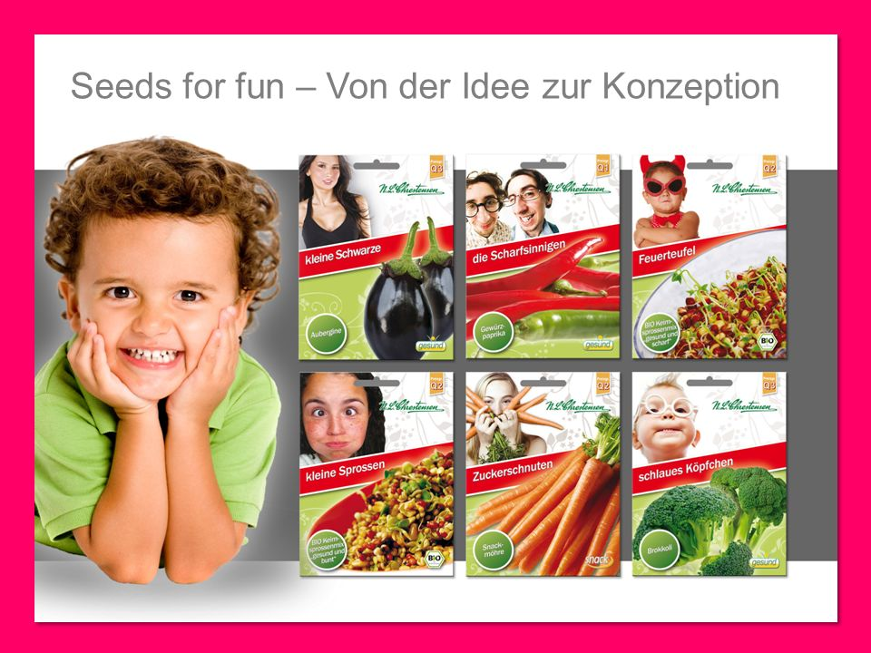 Seeds for fun – Von der Idee zur Konzeption