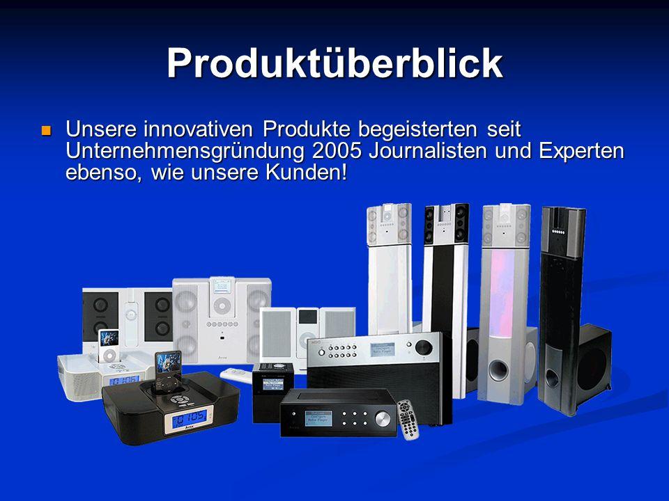 Produktüberblick Unsere innovativen Produkte begeisterten seit Unternehmensgründung 2005 Journalisten und Experten ebenso, wie unsere Kunden! Unsere i