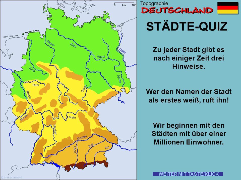 Ihr kennt euch in Deutschland aus??.Ihr wisst, wo alles Liegt und wie es hei ß t.